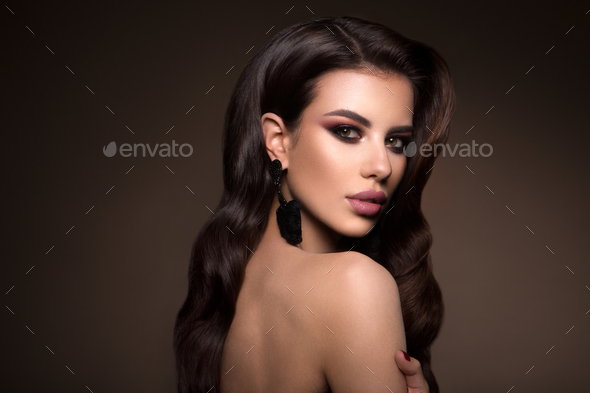 Beautiful woman with professional make up - Stock Photo - Images