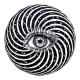 Eye of a Human in Vortex Hypnotic Warp Hole