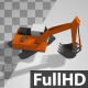 Lowpoly Excavator Back Side - VideoHive Item for Sale