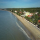 Aerial View of Splendid Hotels Face Beach of Calm Ocean - VideoHive Item for Sale