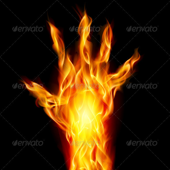 Fire Hand - Tattoos Vectors