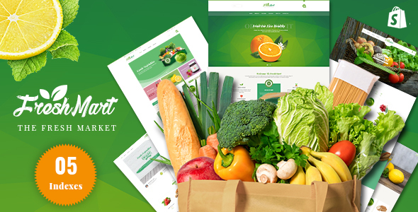 FreshMart – Responsive Shopify Theme, Organic, Fresh Food, Farm Store
