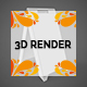 Portable A Poster Stand 3D Render - GraphicRiver Item for Sale