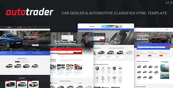 AutoTrader - Car Dealer and Automotive Classified HTML Template - Business Corporate