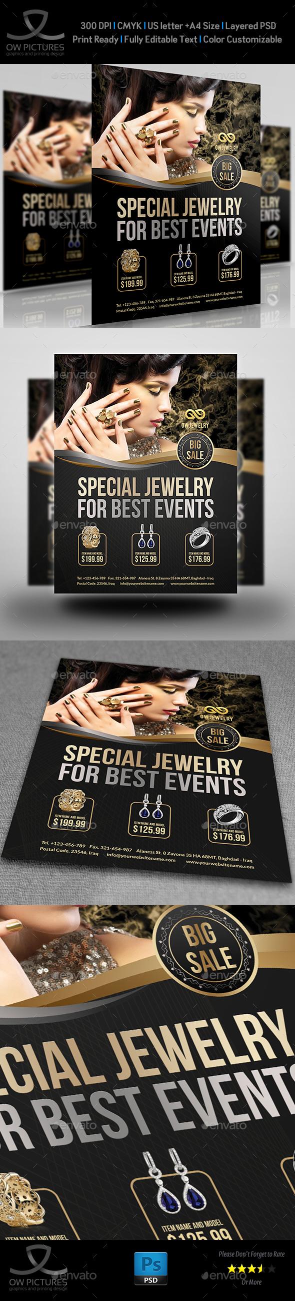 Jewelry Flyer Templates Vol.2 - Flyers Print Templates