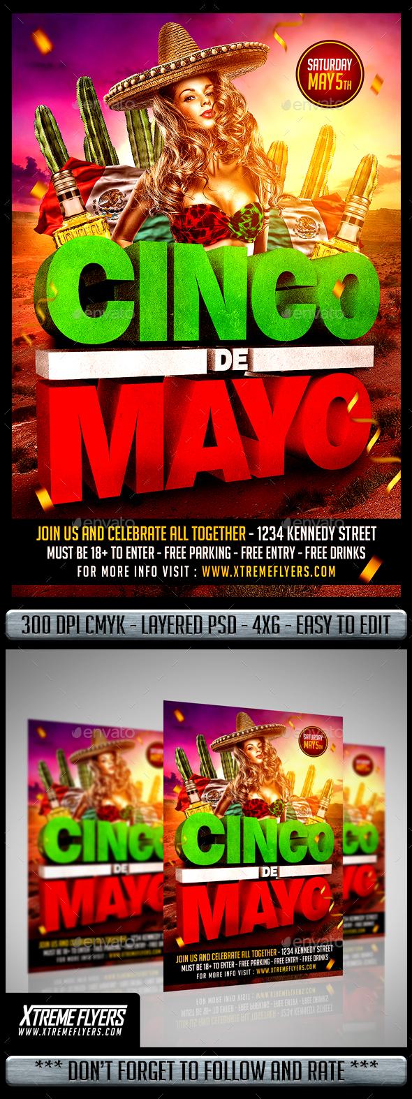 cinco de mayo flyer by matteogianfreda graphicriver