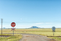 Level railway road crossing at Tweespruit in the Free State - PhotoDune Item for Sale