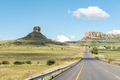 Typical sandstone hill landscape between Fouriesburg and Clarens - PhotoDune Item for Sale