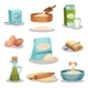 Bakery Set, Kitchen Utensils and Food Ingredients
