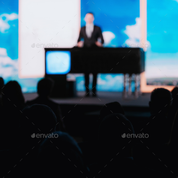 Male Speaker On The Stage - Stock Photo - Images