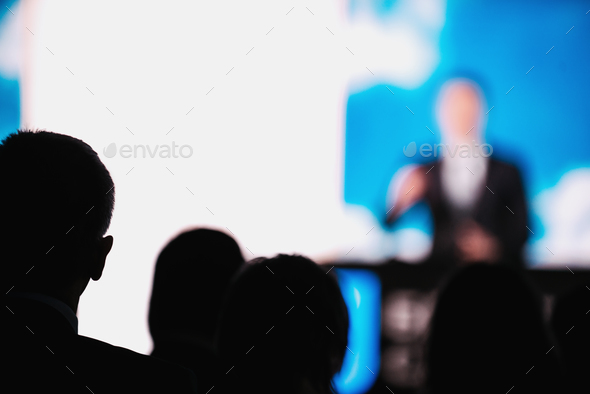 Presentation Of A Speaker On The Stage - Stock Photo - Images