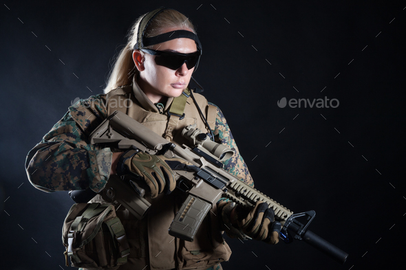 US Marine Soldier - Stock Photo - Images
