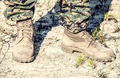 Combat boots in the desert - PhotoDune Item for Sale