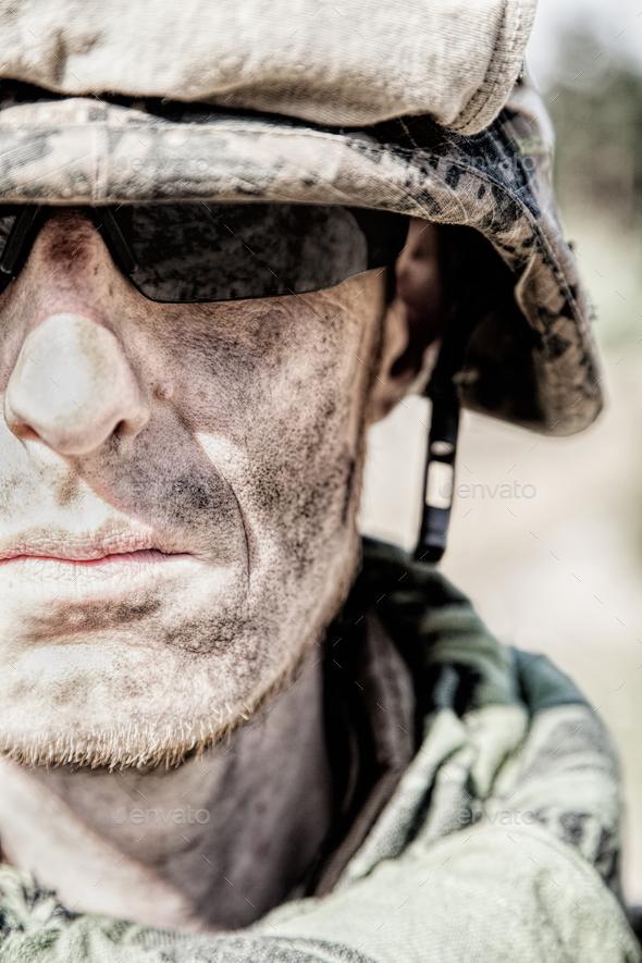 US Marine badass - Stock Photo - Images