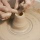 Man Works with a Potter's Wheel, Only Hands - VideoHive Item for Sale