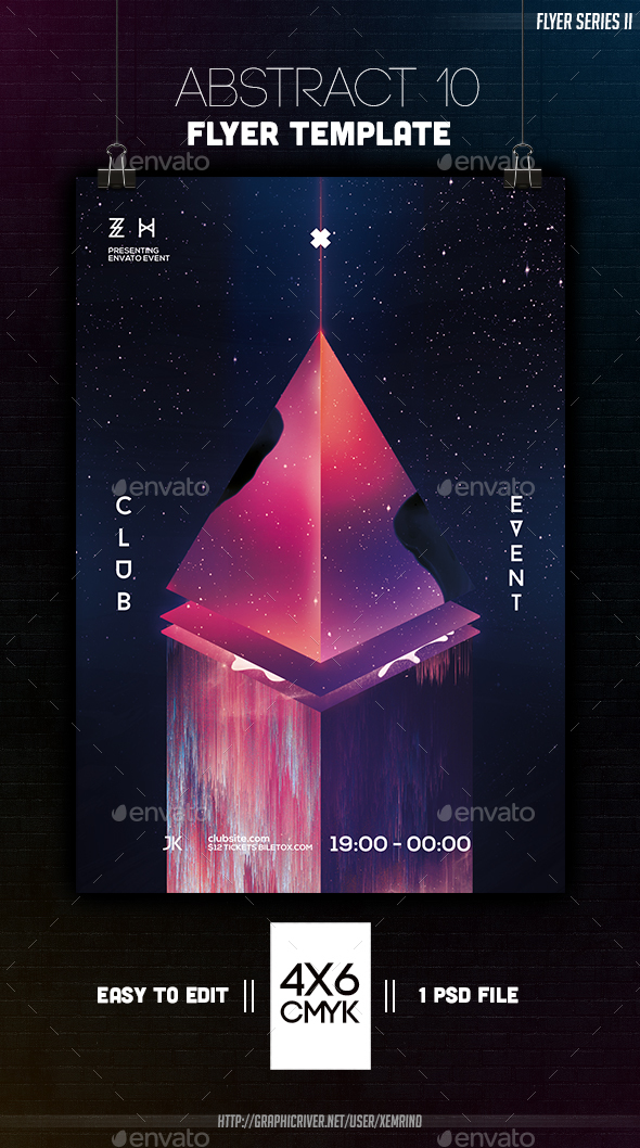 Abstract 10 Flyer Template - Clubs & Parties Events