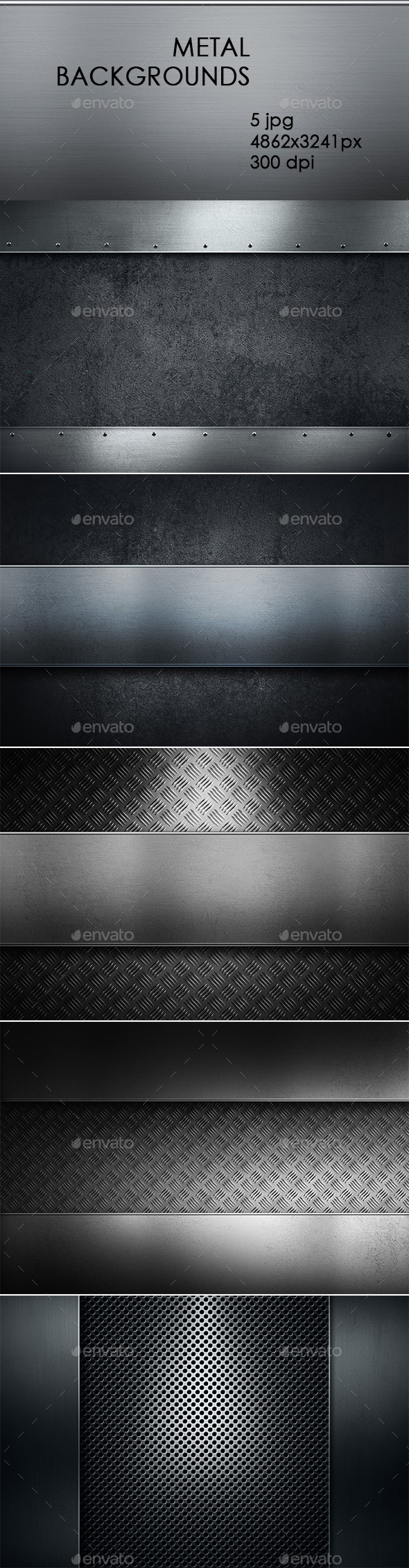 Metal Backgrounds - Abstract Backgrounds