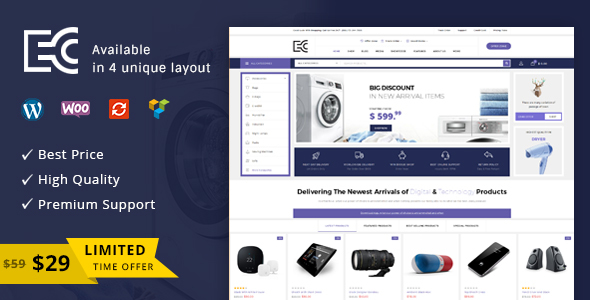 Image of eCode - Multipurpose WooCommerce Theme