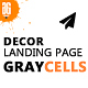 Graycells - 5 Decor Landing Page