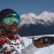 Snowboarder Set Out a Drone in Mountains - VideoHive Item for Sale