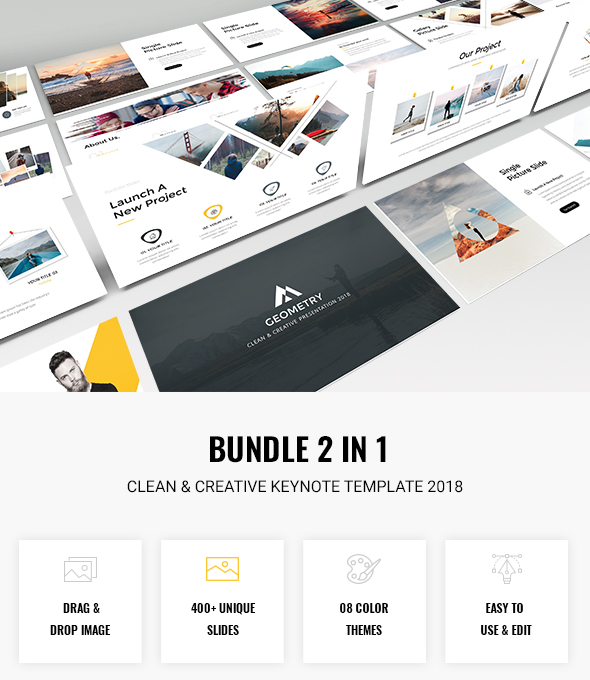 Bundle 2 in 1 Clean & Creative Keynote Template 2018 - Creative PowerPoint Templates