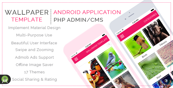 HD Purpose Wallpaper Template for Android with PHP CMS Admin Panel - CodeCanyon Item for Sale