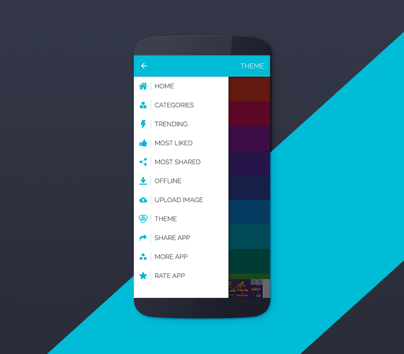 HD Purpose Wallpaper Template for Android with PHP CMS Admin Panel ...