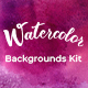 Watercolor Backgrounds Kit