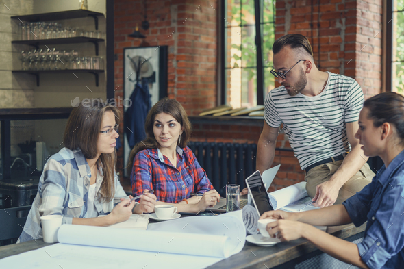 Working young people - Stock Photo - Images