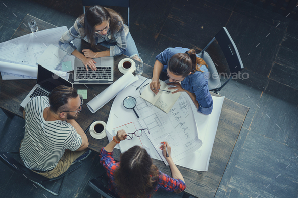 Young people at work - Stock Photo - Images