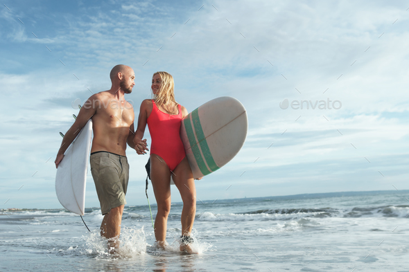 Young surfer outdoors - Stock Photo - Images