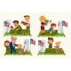 Senior Man with Children in Military Cemetery - GraphicRiver Item for Sale