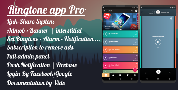 Ringtone App Pro - Material Design - CodeCanyon Item for Sale