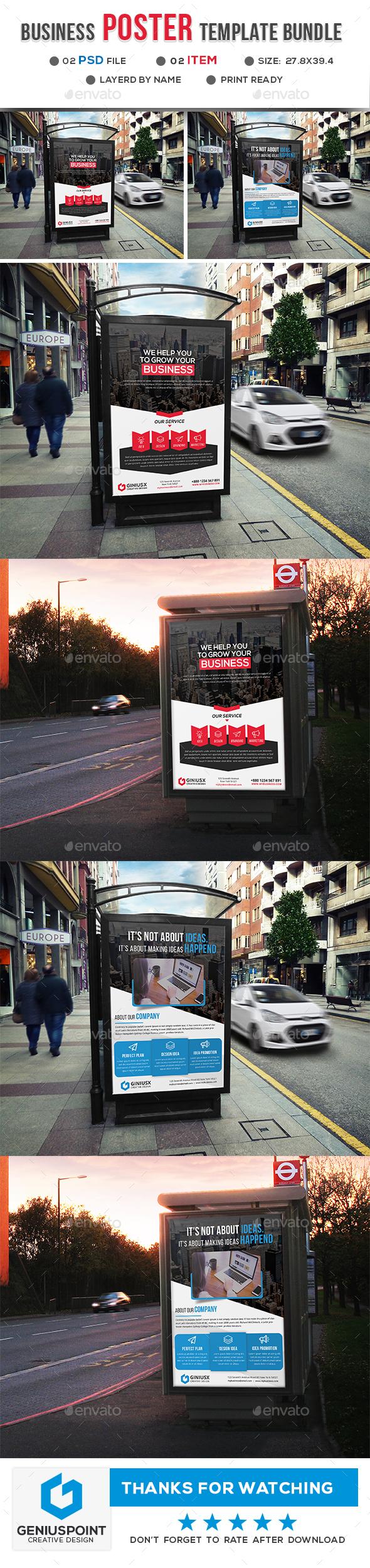 Business Poster Bundle - Signage Print Templates