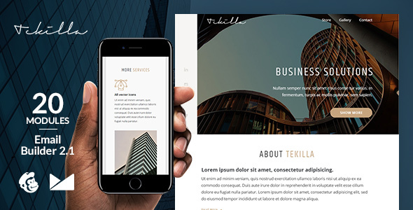 tekilla responsive email template + online emailbuilder 2.1 (newsletters) Tekilla Responsive Email Template + Online Emailbuilder 2.1 (Newsletters) Preview 20Tekilla 20Email Template