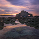 Sunset at low tide in front of the Penafurada in Loiba - PhotoDune Item for Sale