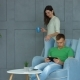 Couple Enjoying Weekend Together in Domestic Room - VideoHive Item for Sale