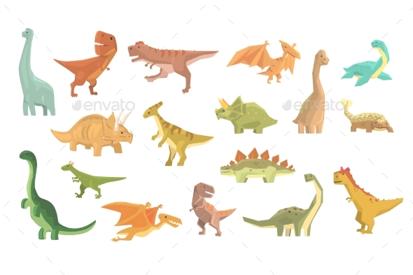 Dinosaurs of Jurassic Period - Animals Characters