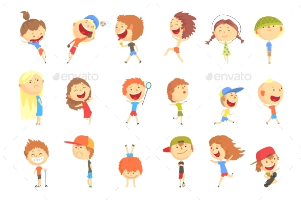 Small Kids Playing and Running - Sports/Activity Conceptual
