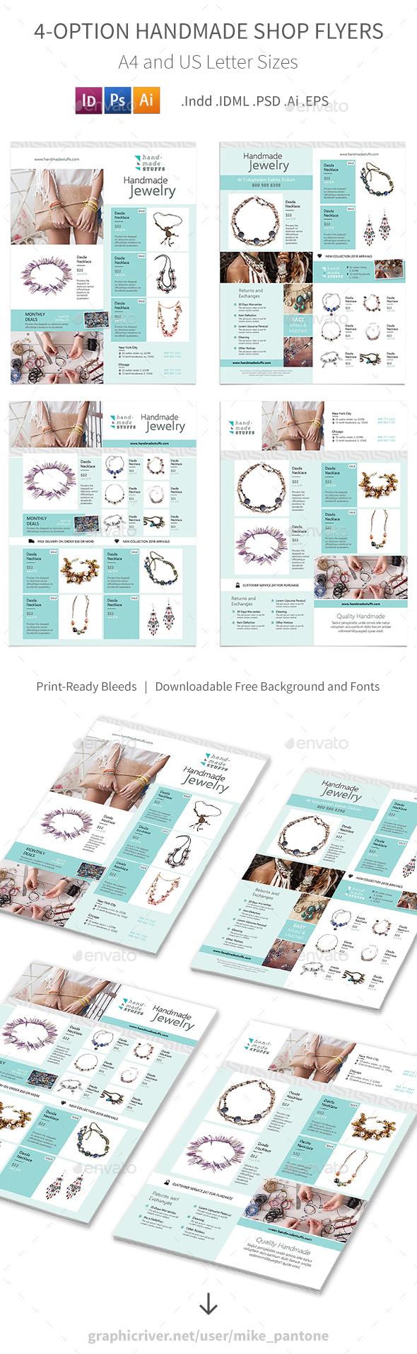 Handmade Shop Flyers – 4 Options - Commerce Flyers