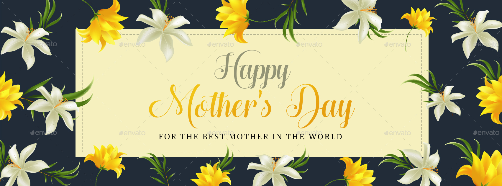 Mother S Day Facebook Cover Templates 5 Designs