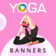 Yoga Banner Set - GraphicRiver Item for Sale