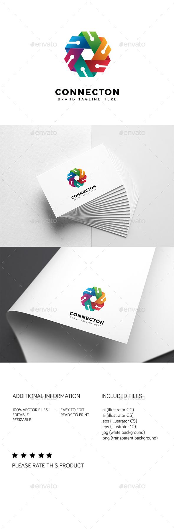 Connecton Logo - Abstract Logo Templates