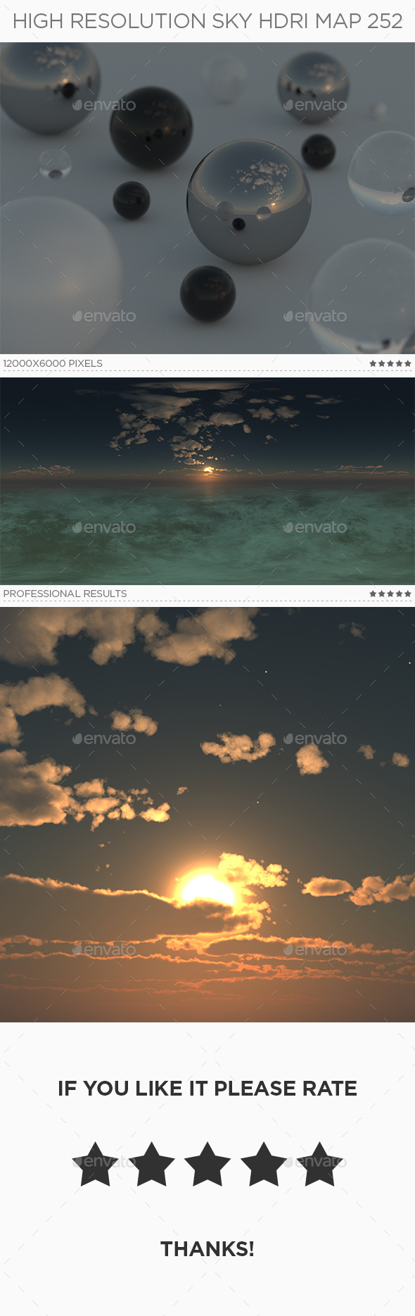 High Resolution Sky HDRi Map 252 - 3DOcean Item for Sale