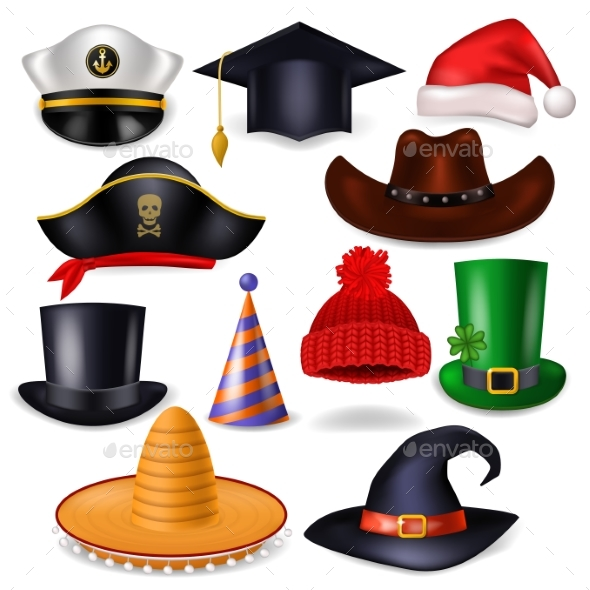 Cartoon Hat Vector Comic Cap for Celebrating - Man-made Objects Objects