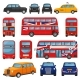 London Car Vector British Cab Taxi and UK Red Bus - GraphicRiver Item for Sale