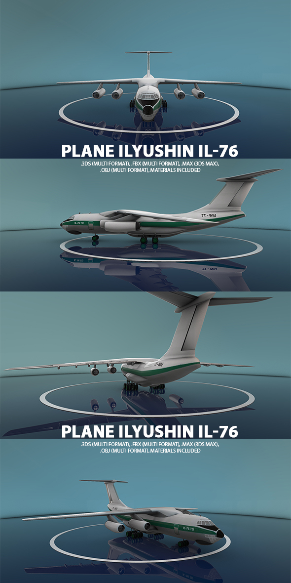 Ilyushin Il-76 Plane - 3DOcean Item for Sale