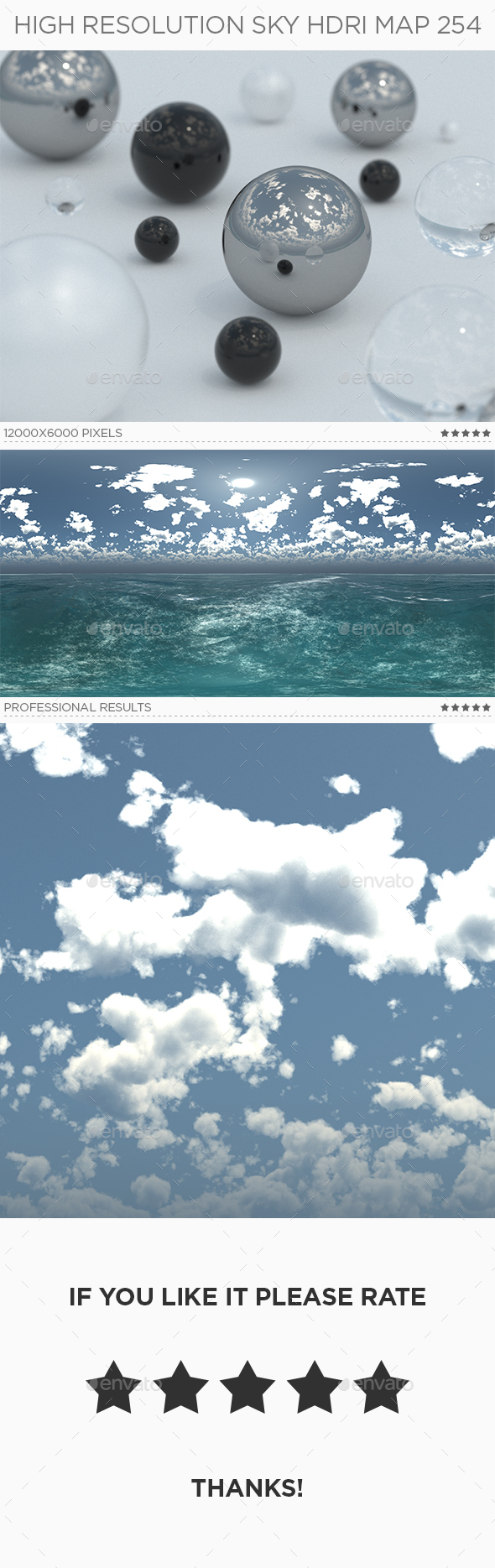High Resolution Sky HDRi Map 254 - 3DOcean Item for Sale