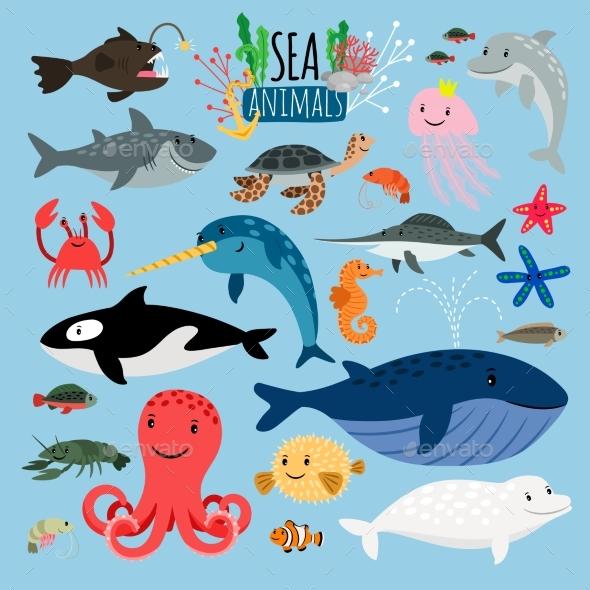 Sea Animals - Animals Characters