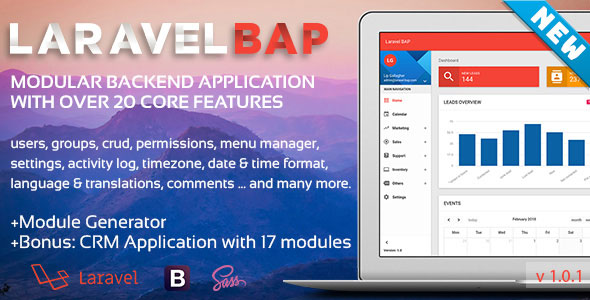 Laravel-BAP Modular Backend Application Platform + Example CRM with 17 modules - CodeCanyon Item for Sale